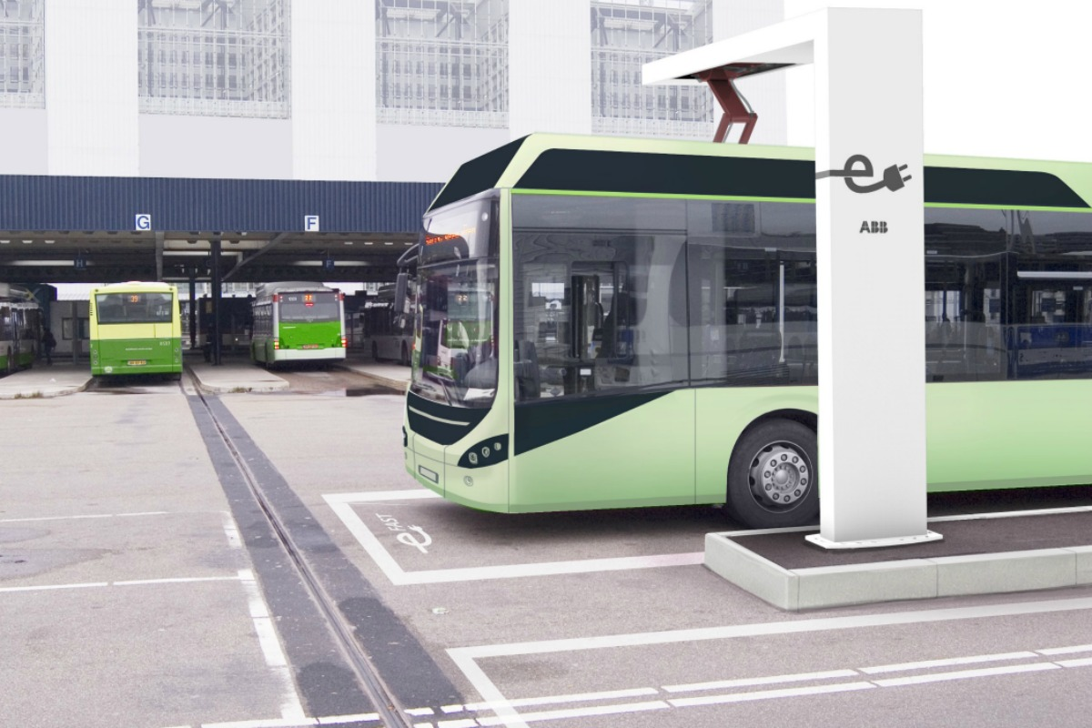 Electric buses get charged up and ready to go