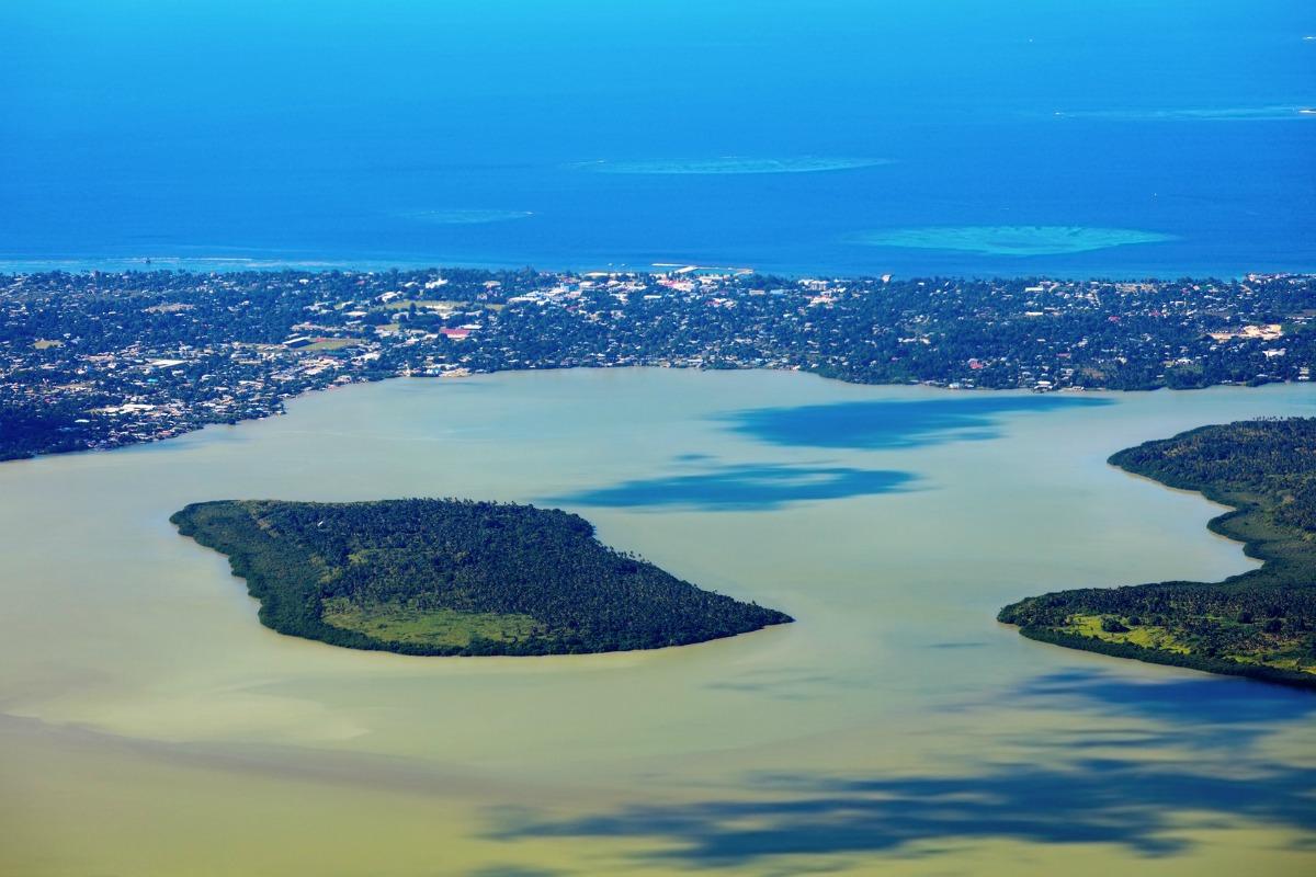 Tongatapu Island with the capital city Nuku' alofa