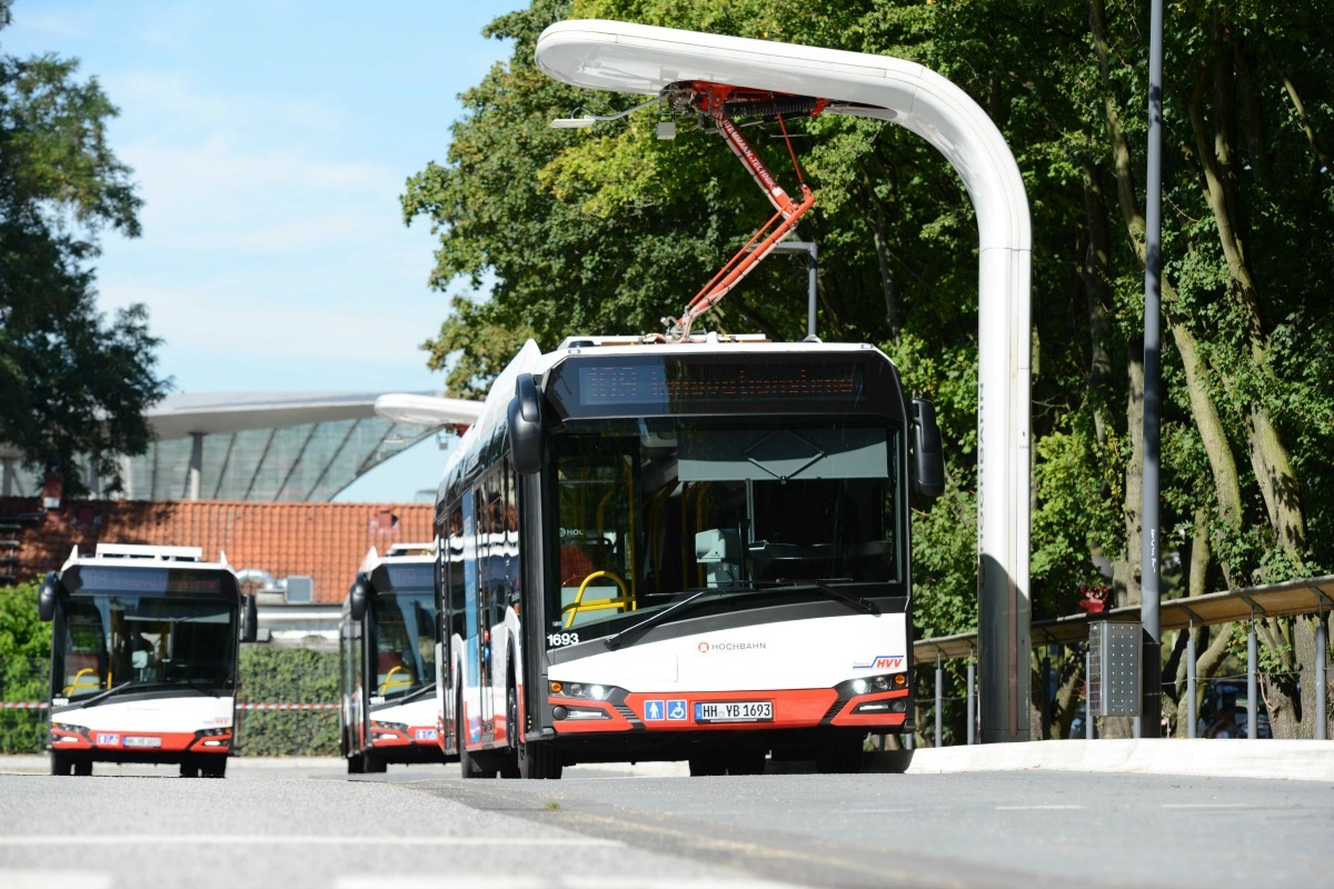 Bus charging station ensures interoperability for vehicles from different manufacturers