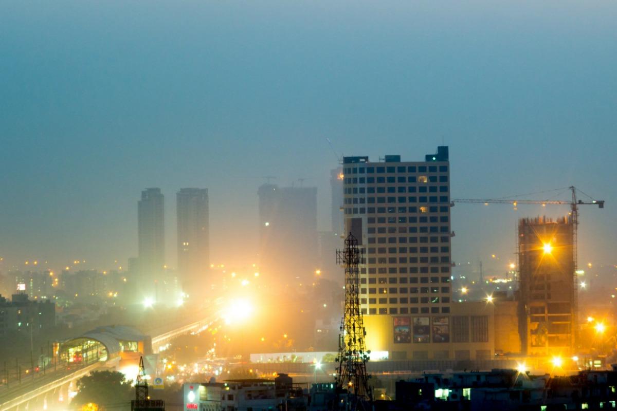 Noida at dusk
