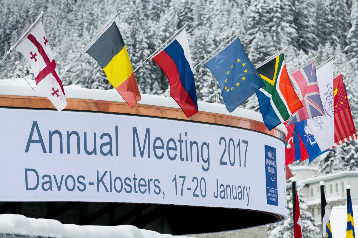Digital transformation and its societal benefits are being discussed at Davos