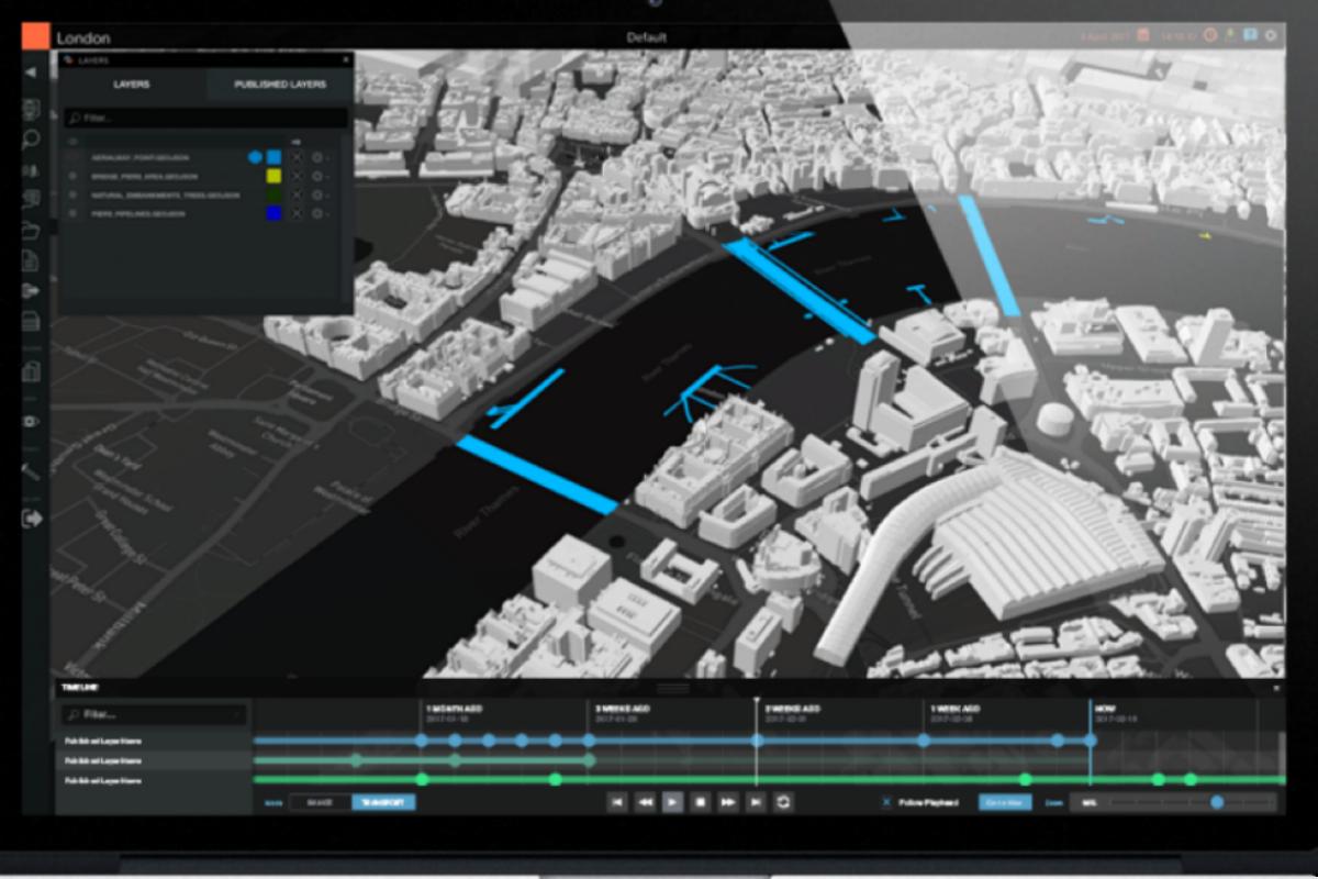 Smart city model of London on Cityzenith's Smart World software platform