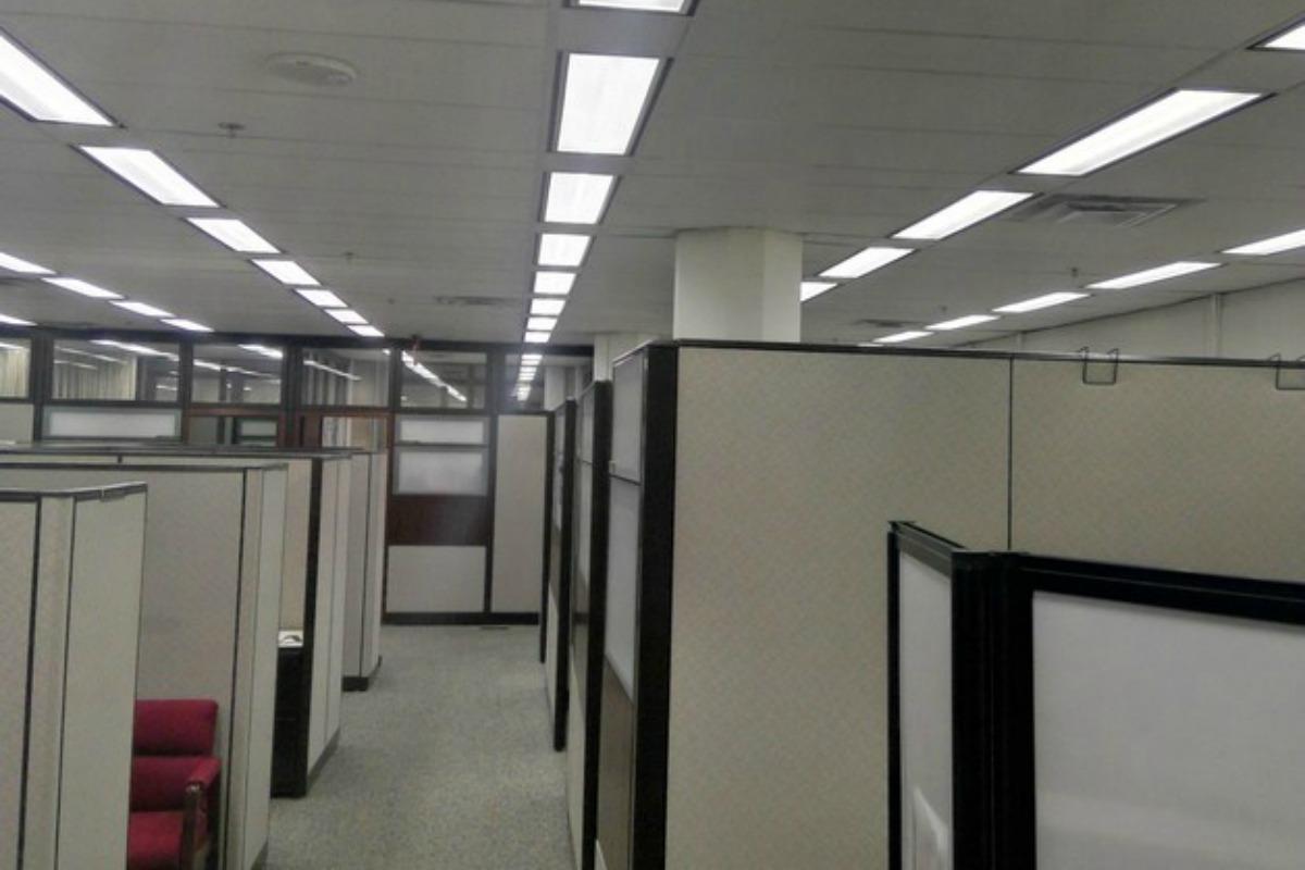 More than 33,000 LED lights have been installed in the James Forrestal Building