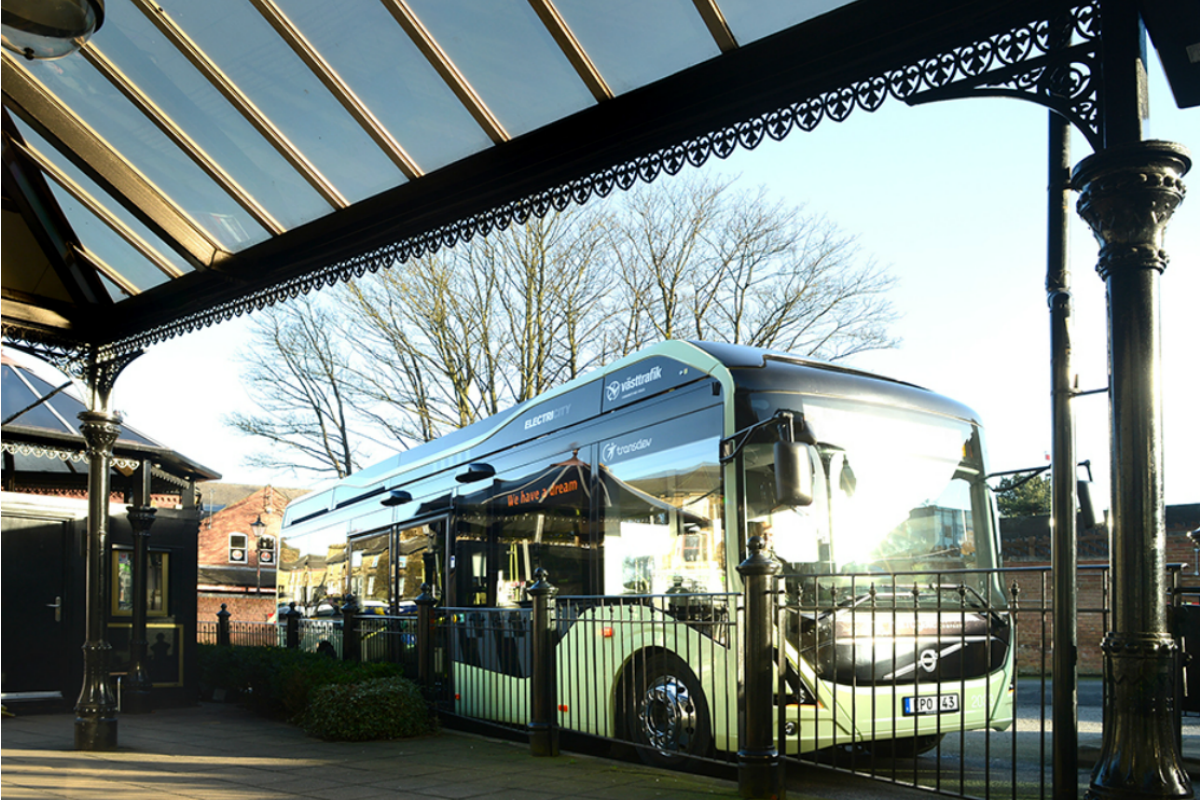Buses can be charged while they wait at terminal bus stops Picture courtesy: Transdev Blazefield