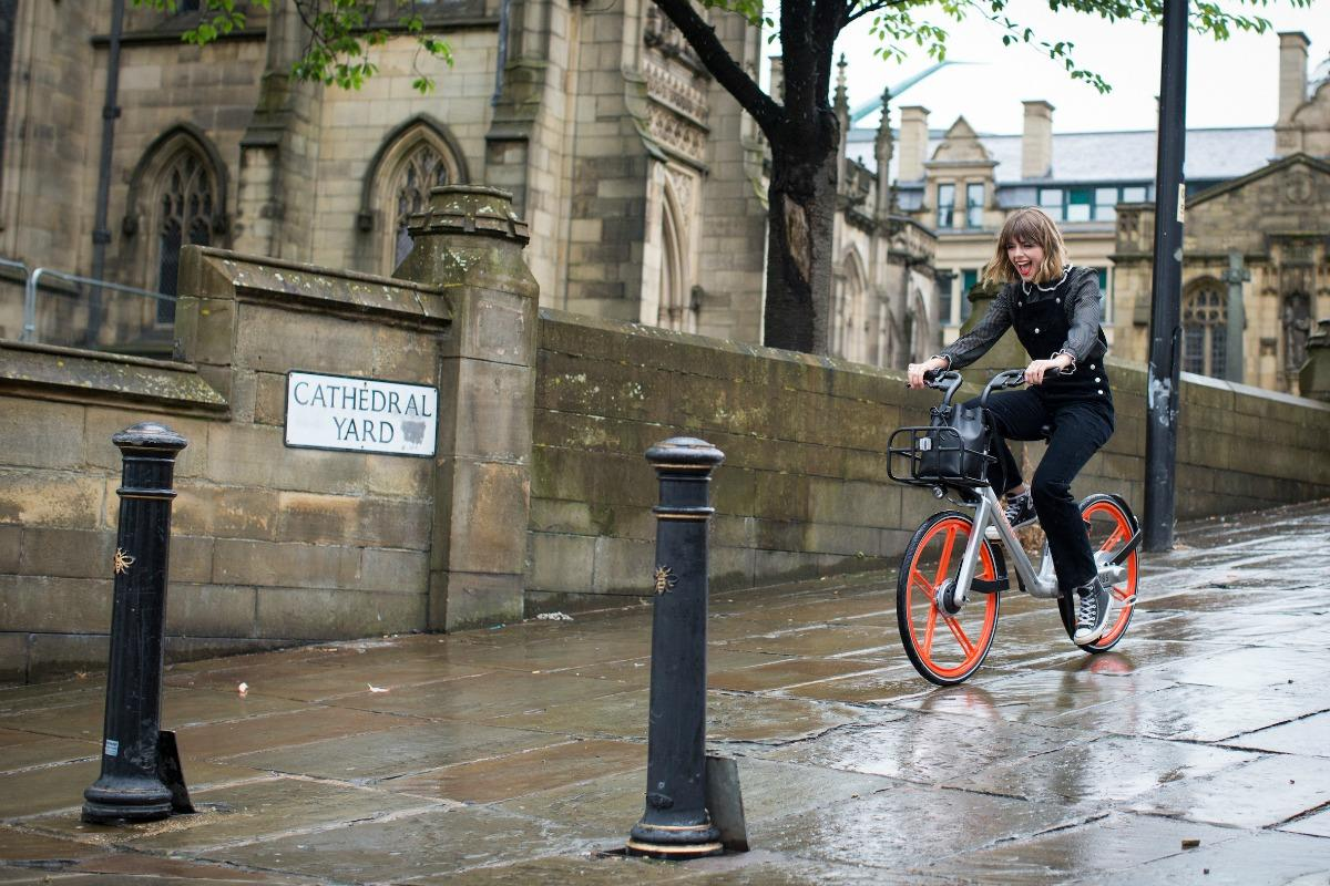 To celebrate the launch, Mobike showcased the bikes in New Cathedral Street