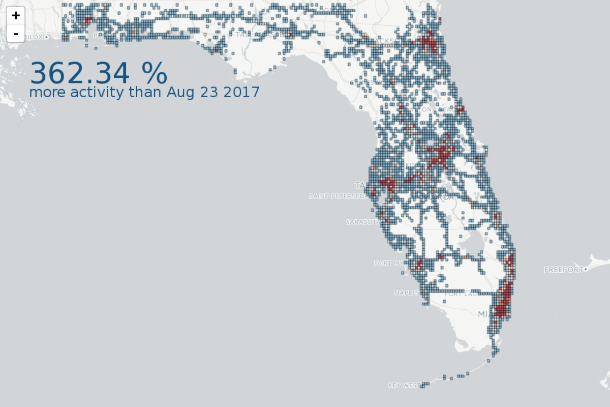 Geotab's data showing the increase in fleet activity and fuel demand in Florida