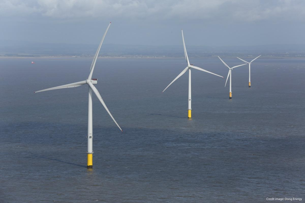 The Burbo Bank wind farm supplies electricity for up to 80,000 UK homes. Picture: Dong Energy