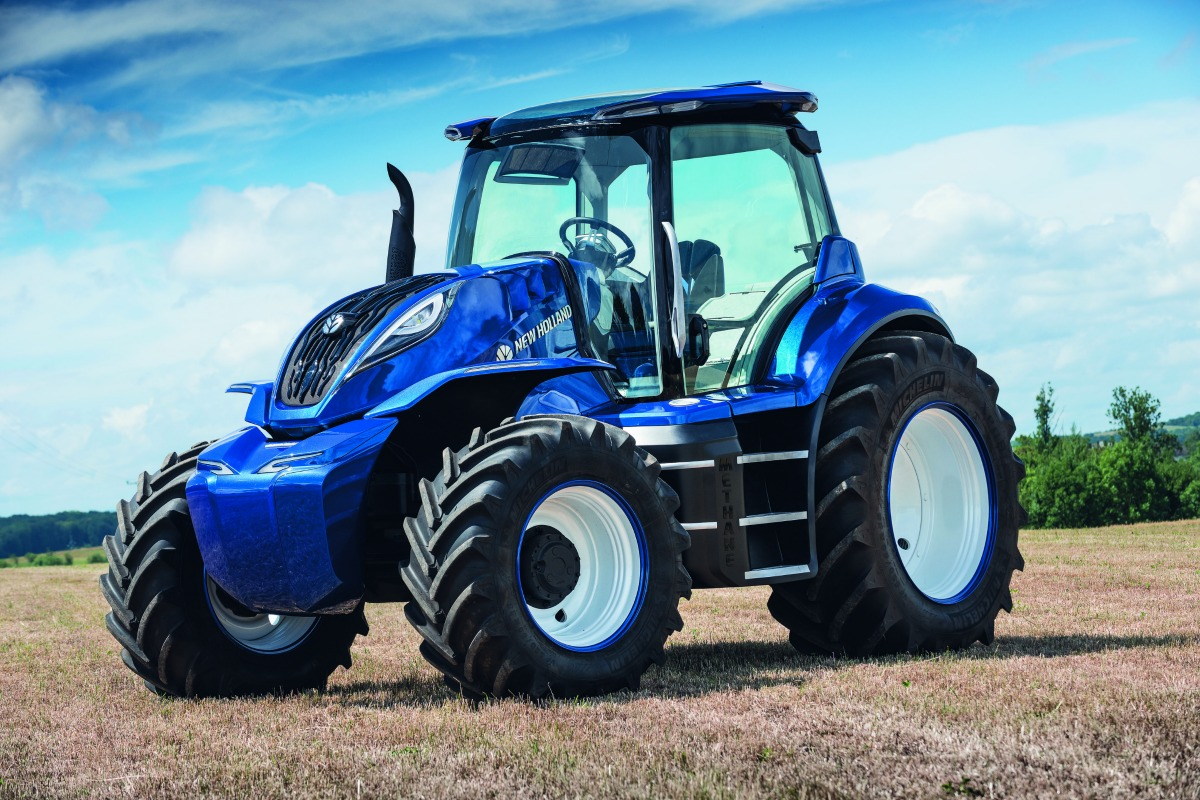 The methane-powered tractor concept by New Holland