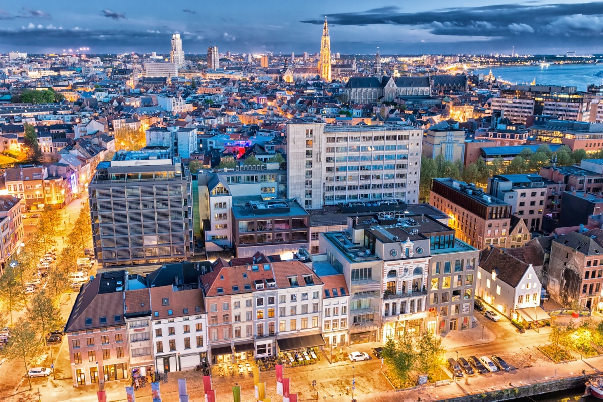 Antwerp (above) and Helsinki will run smart city test projects as part of the programme