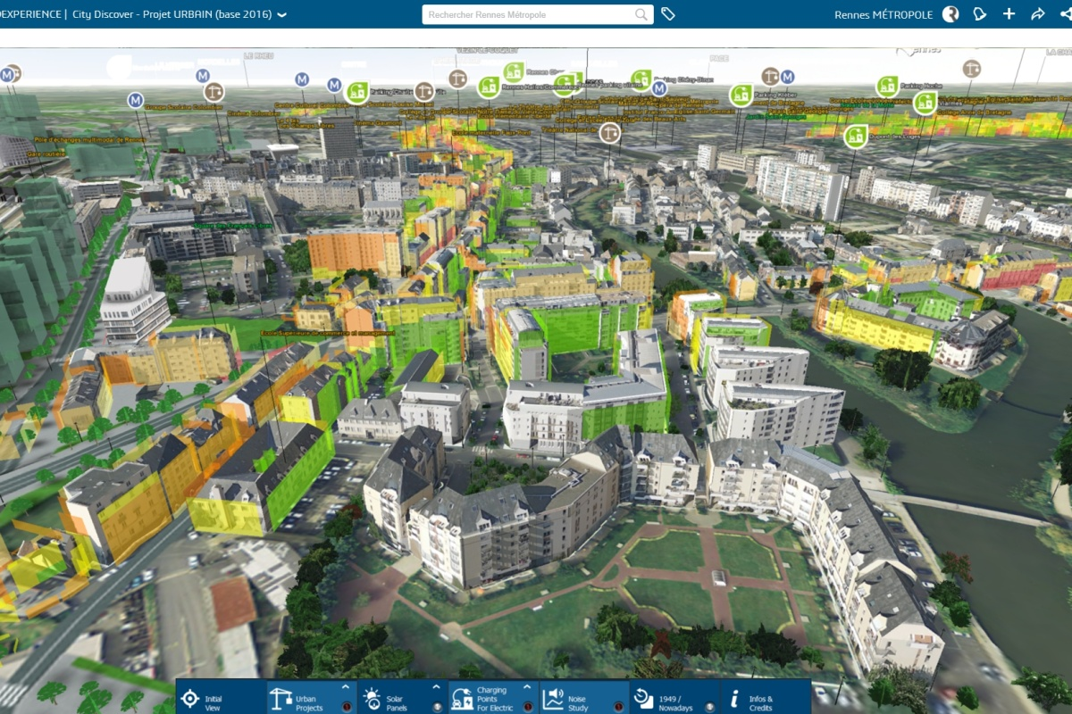 Virtual Rennes comes to life in 3D. Picture courtesy: Rennes Metropole