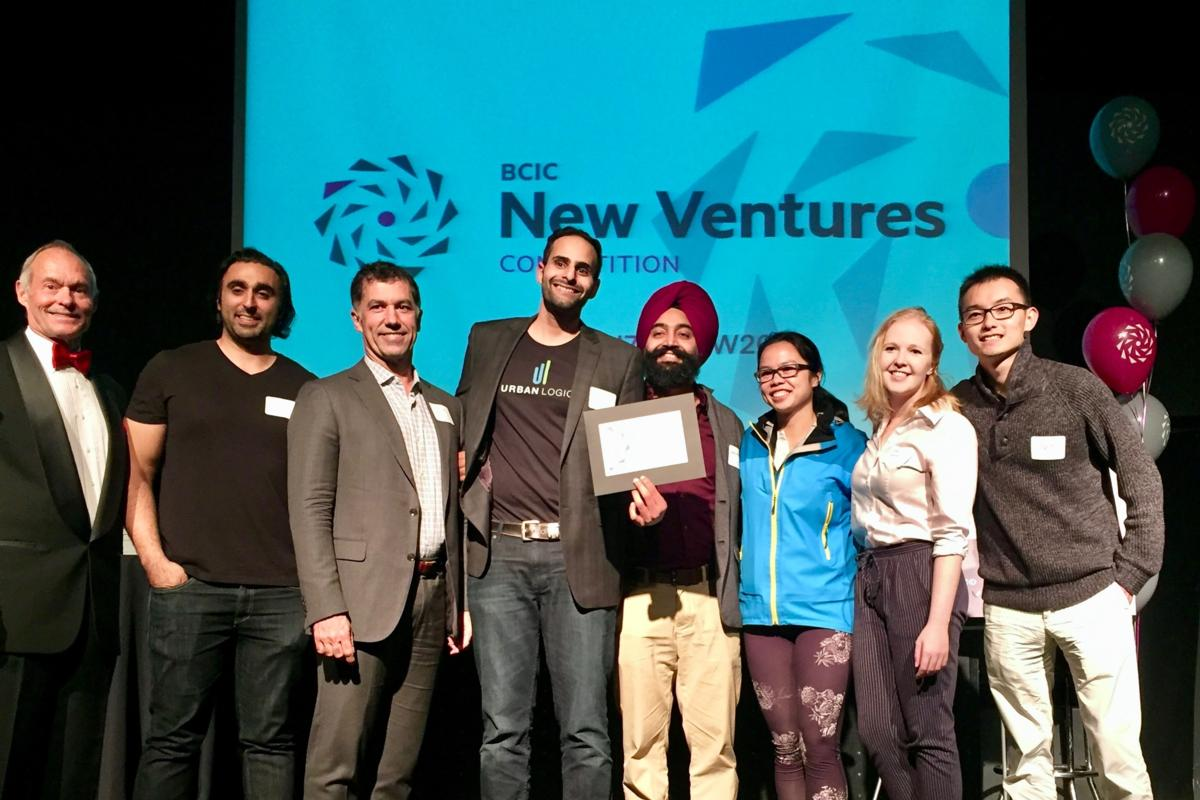 UrbanLogiq receives its award from New Ventures British Columbia