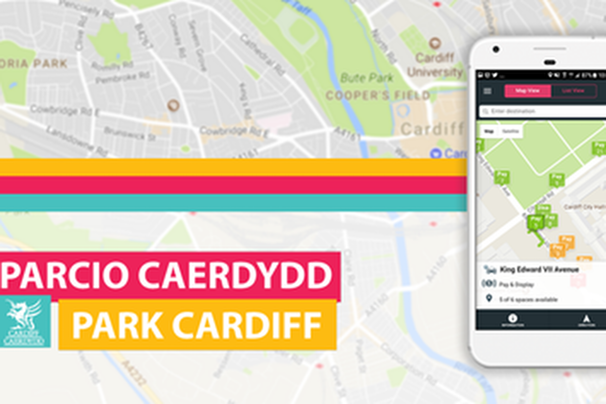 Park Cardiff also connects users to the city's mobile parking payment service
