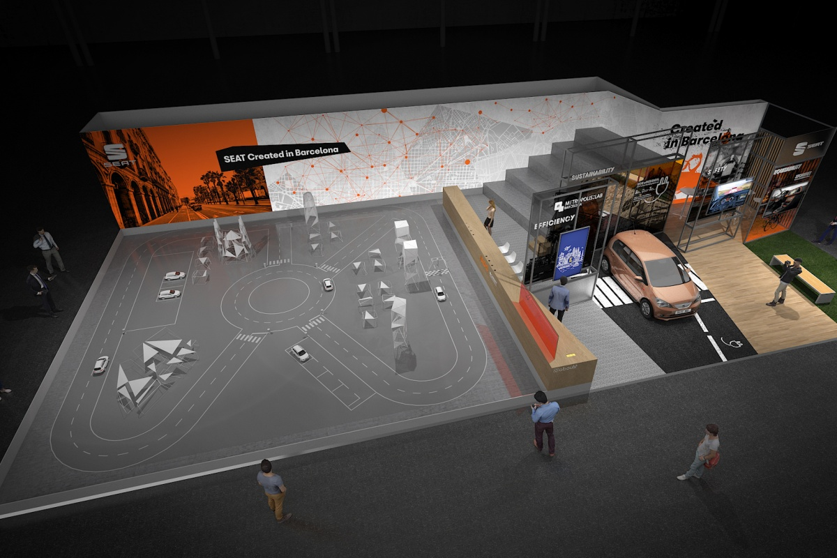 SEAT's stand will showcase smart mobility solutions and feature the Autonomous Driving Challenge