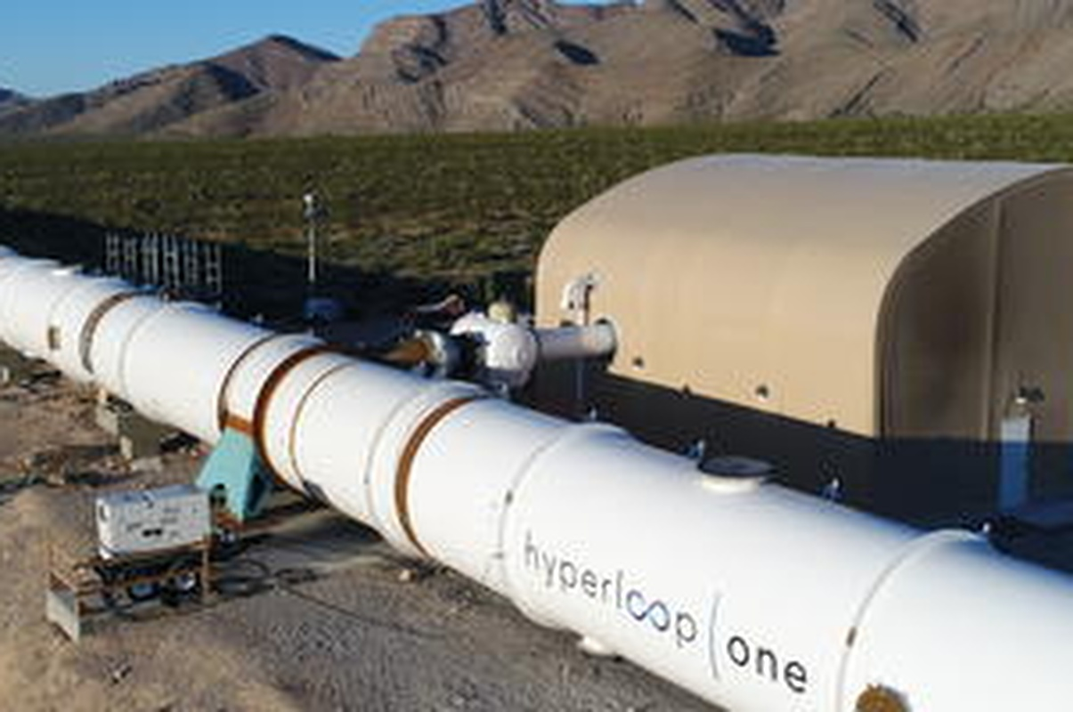 The Hyperloop One technology is being tested at the DevLoop site, in Las Vegas