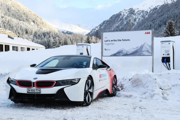 ABB showcases EV innovation at Davos