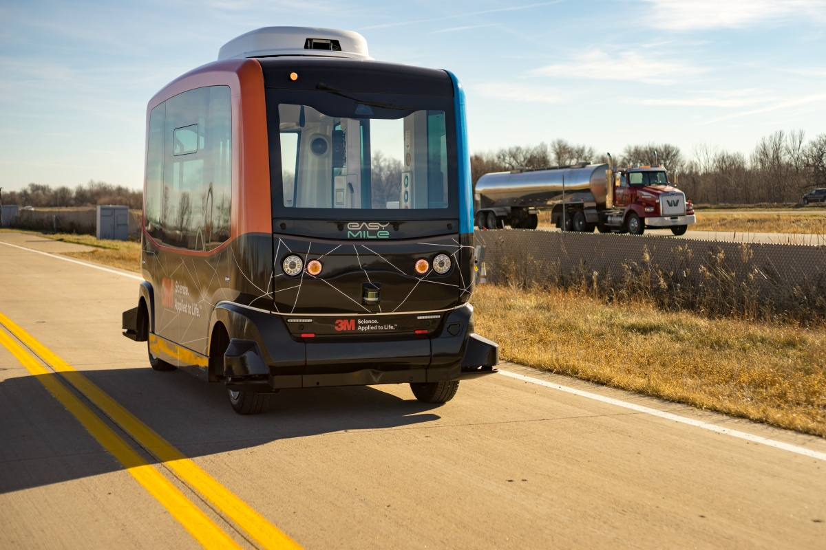 EasyMile's driverless shuttle can be integrated within multi-modal transport systems