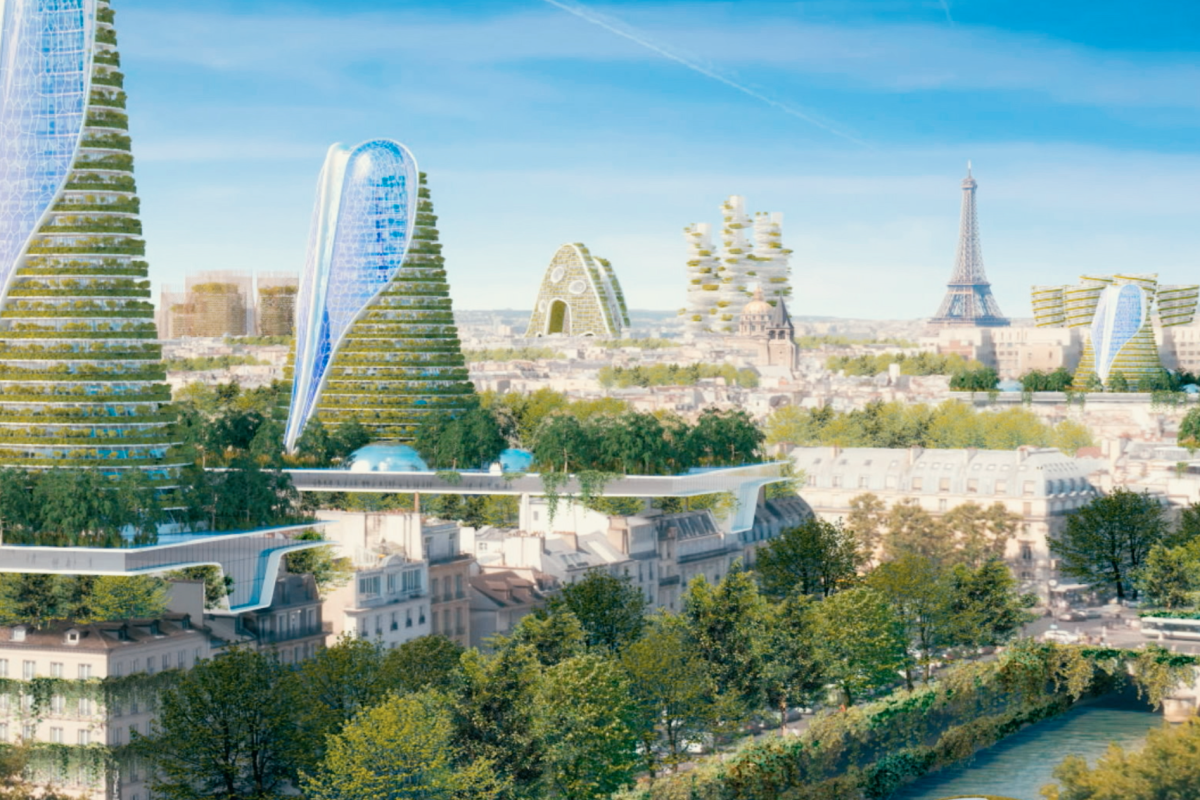 Architect Vincent Callebaut asks why couldn't Paris look like an Amazon rainforest?