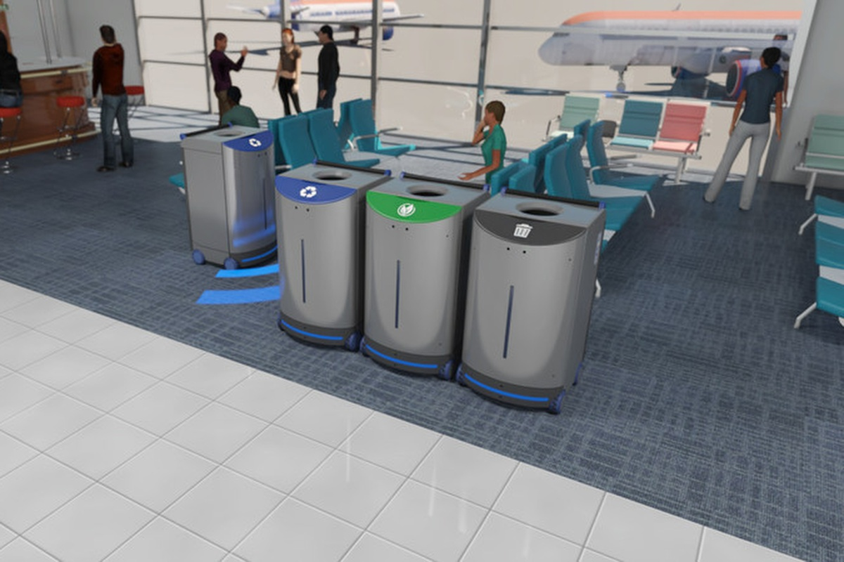 The technology means replacing trash cans will require less intervention by individuals