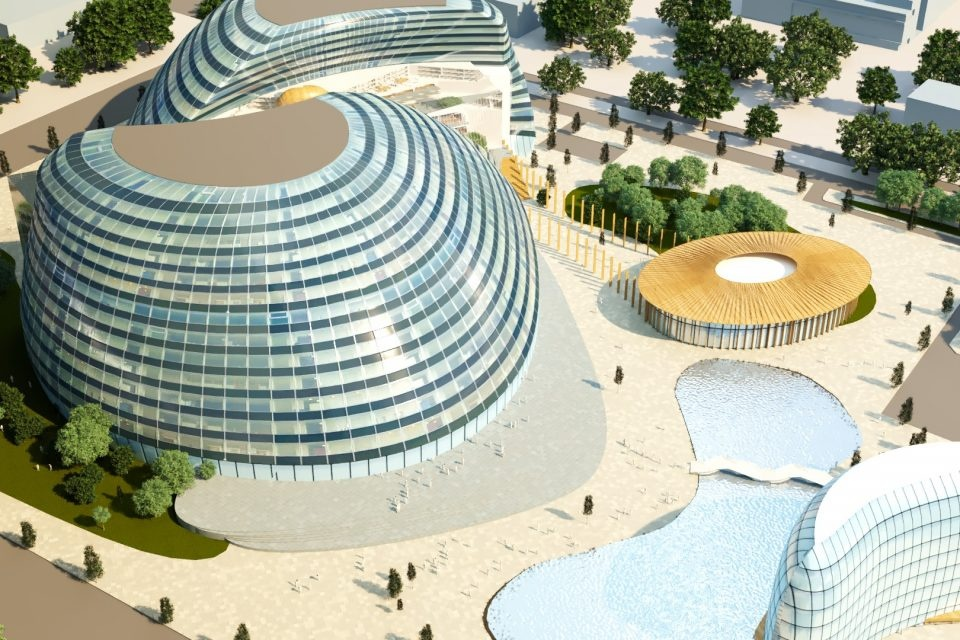 An artist's impression of the proposed new university in Milton Keynes