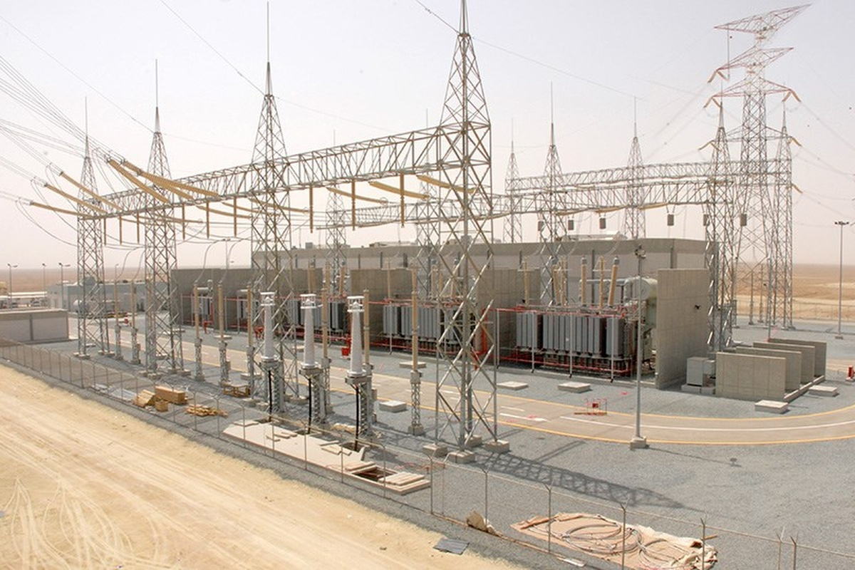 A similar substation to the one which is being installed at Dubai's solar park