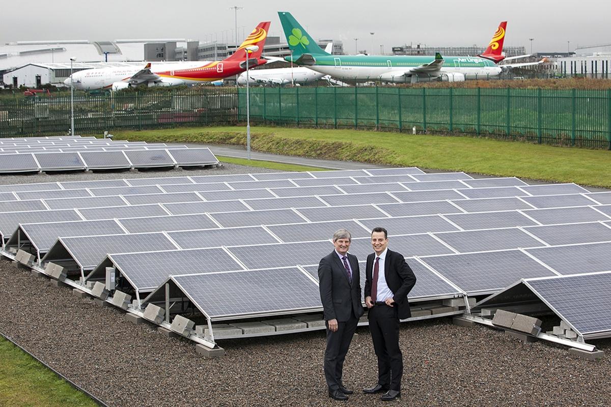 ESB chief executive, Pat O'Doherty, and daa chief executive, Dalton Philips, at the solar farm