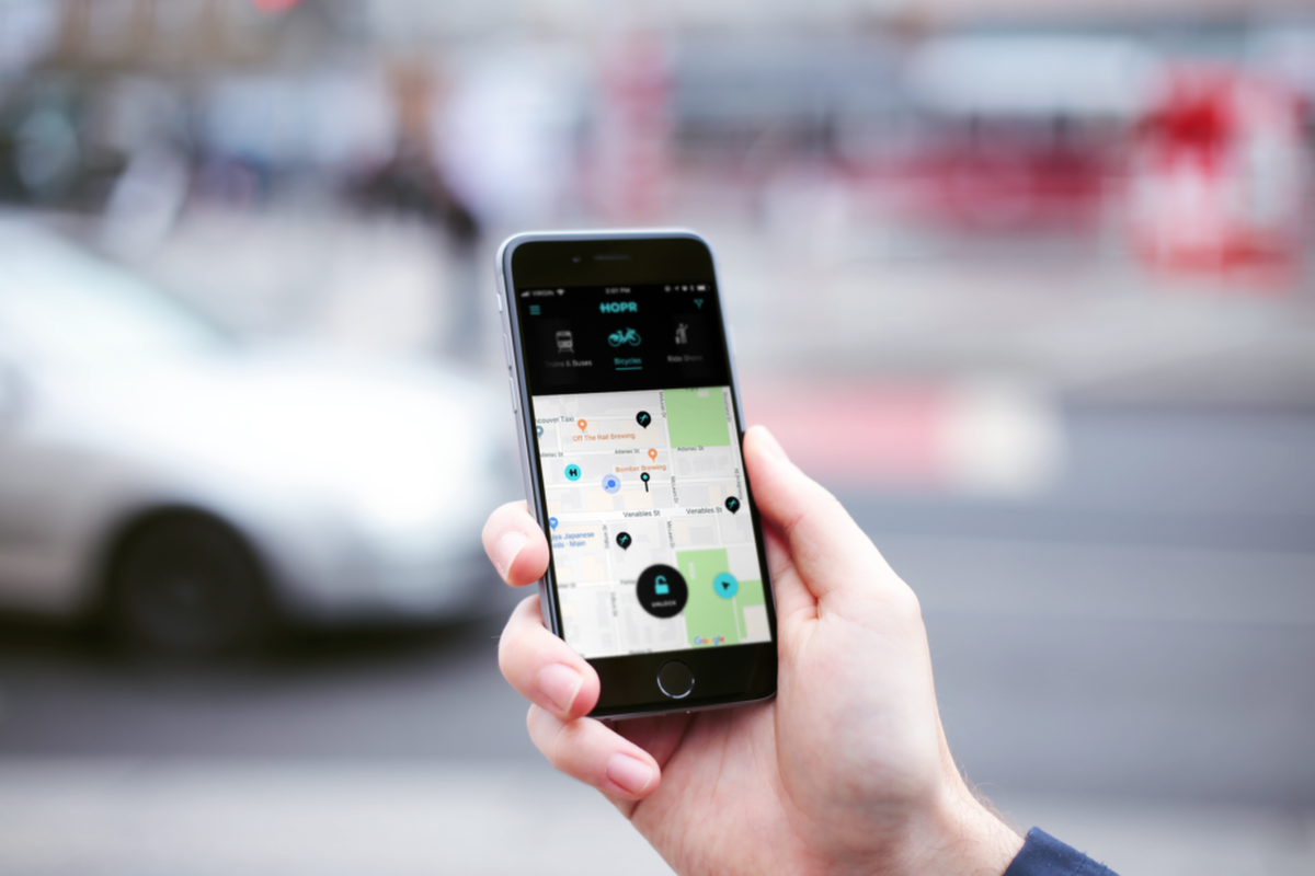 HOPR can be used to instantly compare and access transportation options