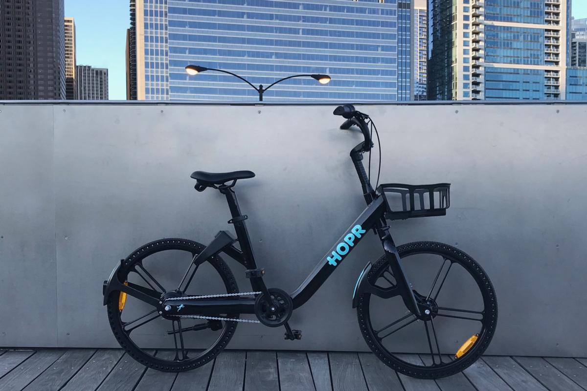 The HOPR ebike, complete with rechargeable power pack