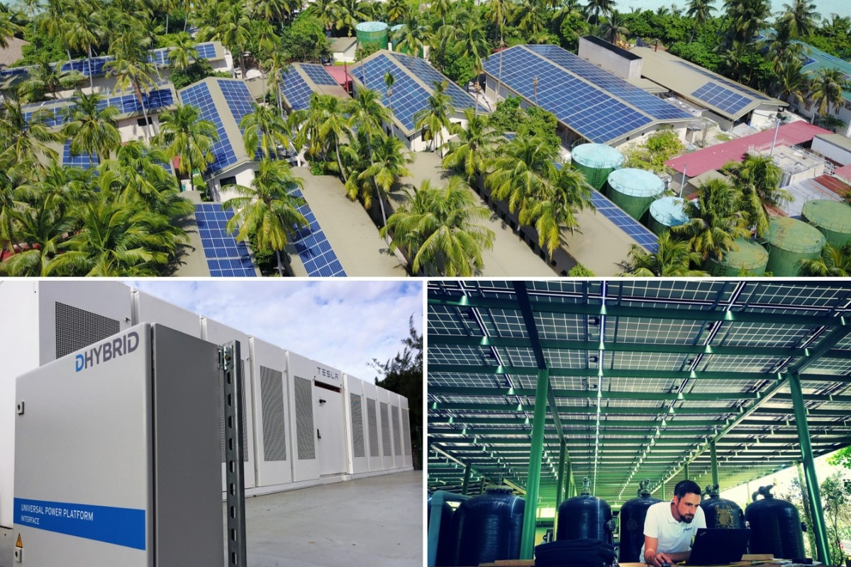 Dhybrid projects: the company designs, installs and operates utility-scale hybrid plants