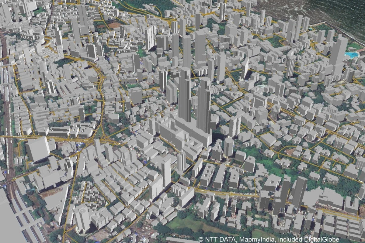 Example 3D map of Mumbai that will be offered in the new AW3D India dataset