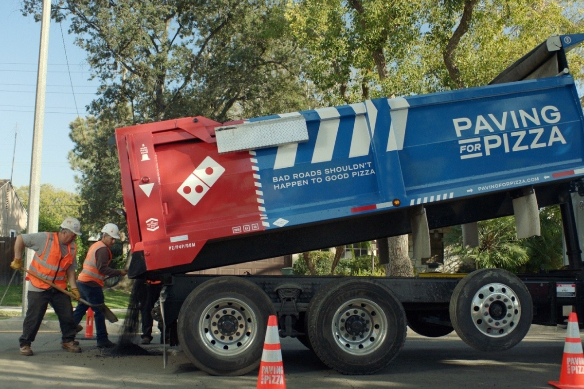 Domino's has already worked with four municipalities to aid road repair