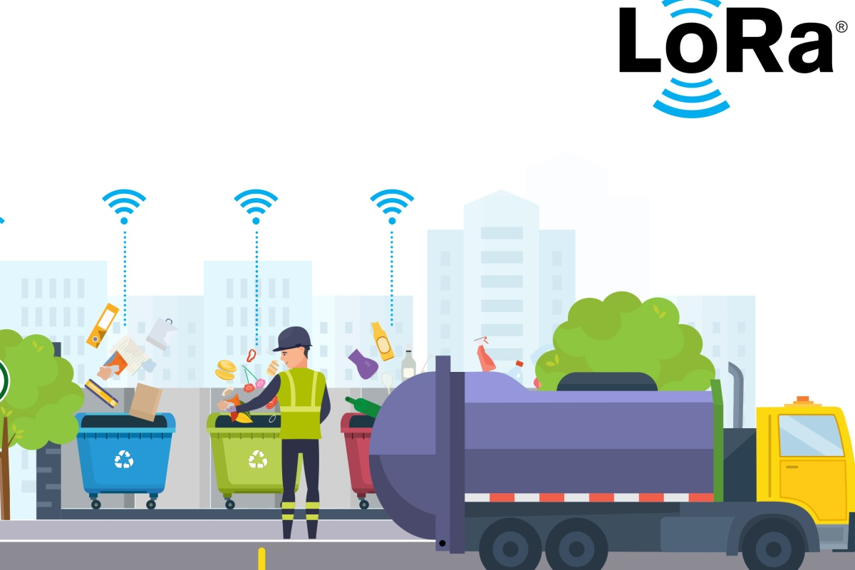 Semtech's LoRa-enabled sensors remotely monitor fill levels of waste bins