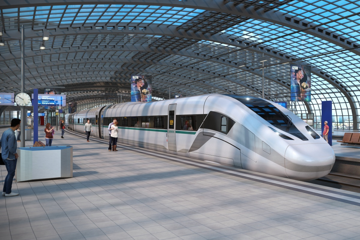 Velaro Novo has a lightweight construction but increases passenger space by 10 per cent