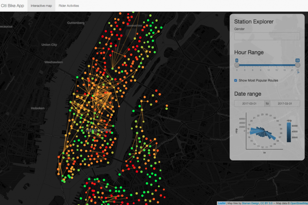 Smart data search for smart cities smart cities world how new york city visualises city bike rides gumiabroncs Images