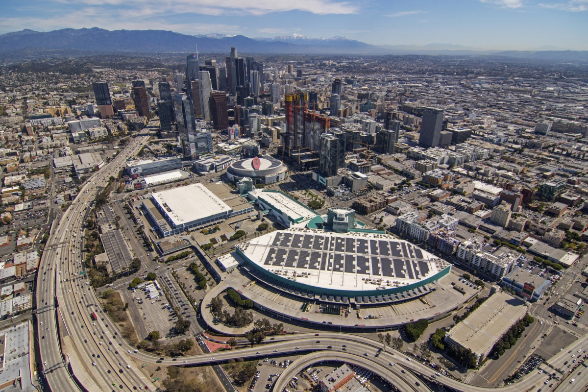 South Hall roof of the centre in Downtown Los Angeles (PRNewsfoto/PermaCity Corp)