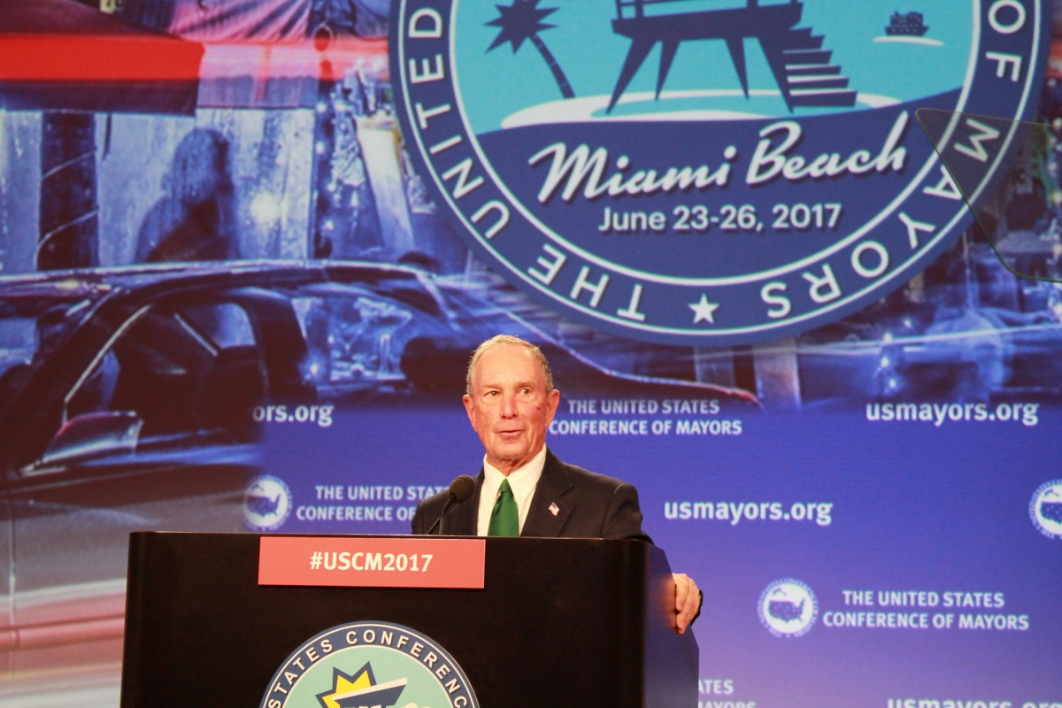 Michael Bloomberg launches the American Cities Initiative last year