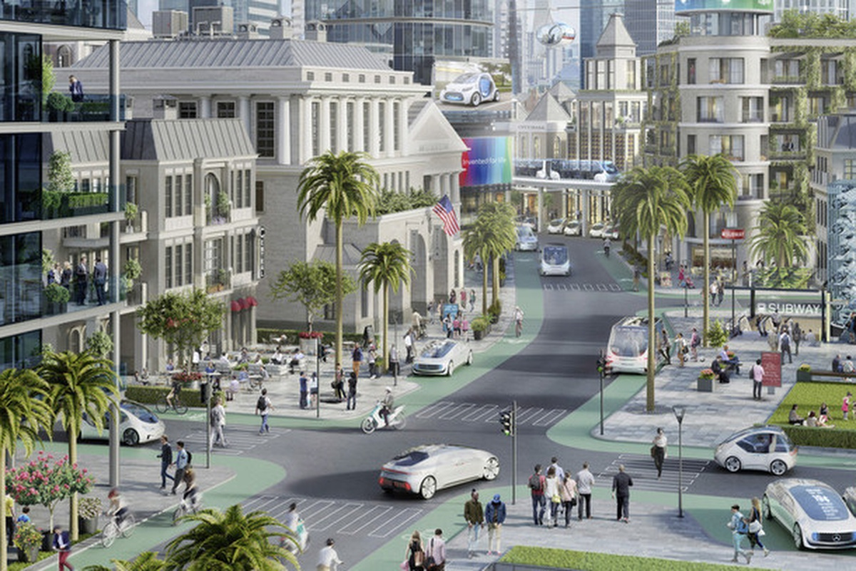 Conceptual view of how the service could work in a pilot Californian city