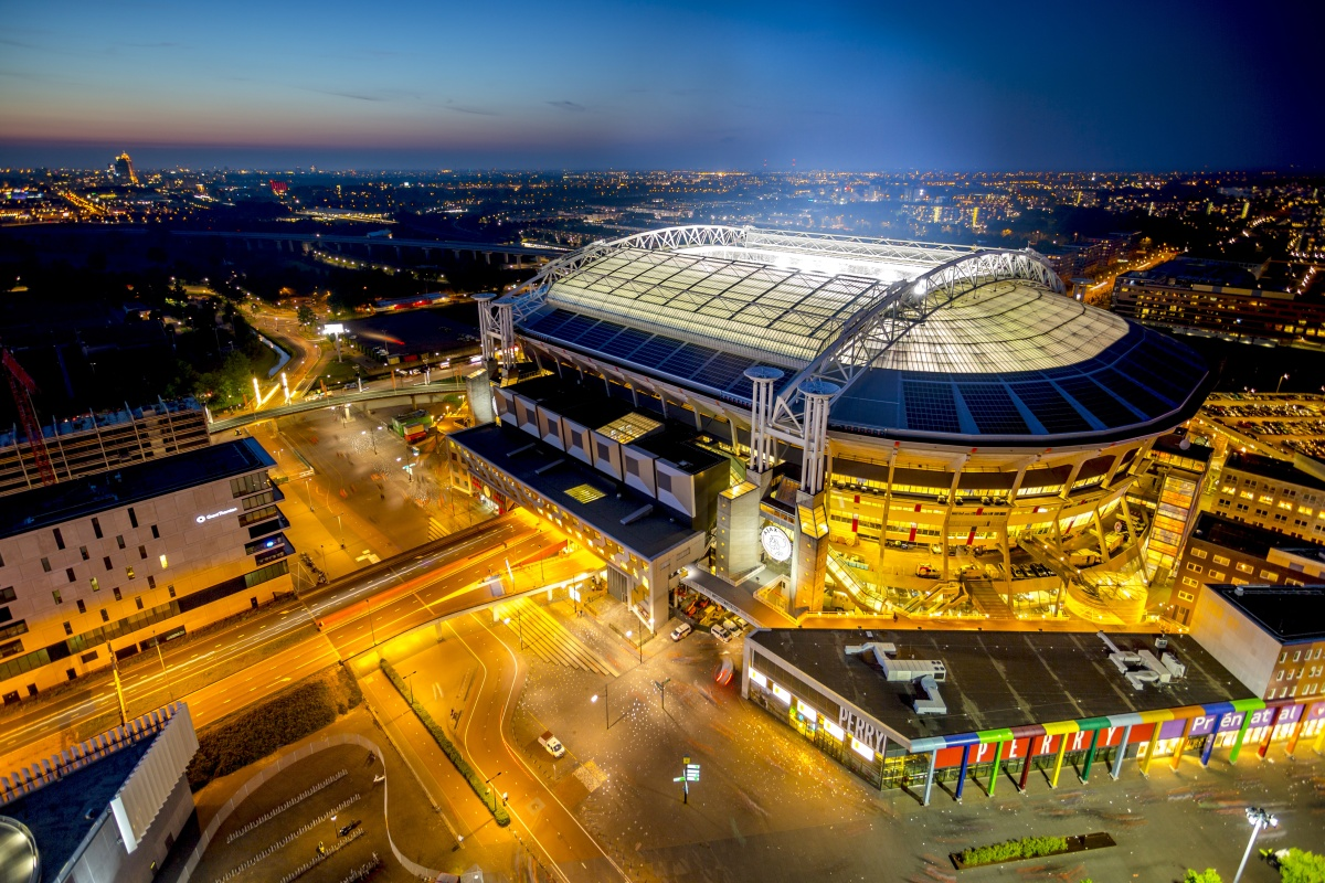 The stadium creates a circular economy for electric vehicle batteries