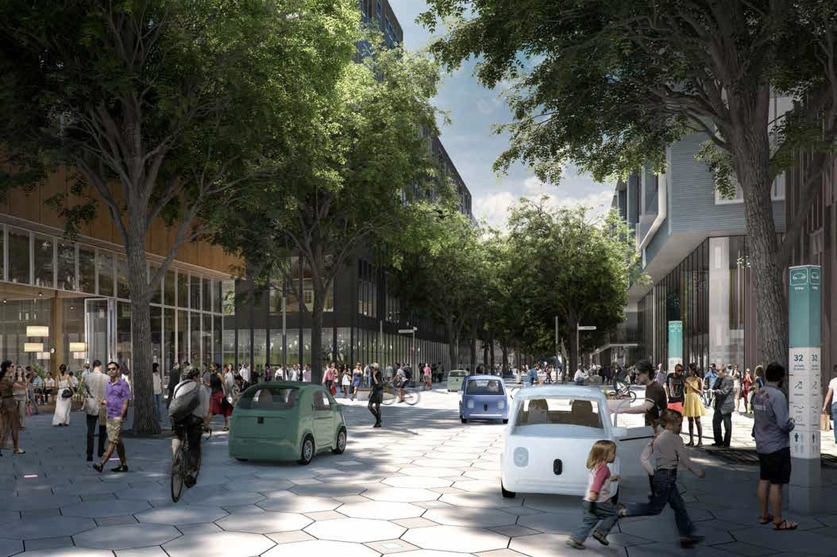 The dynamic streets, which feature a modular surface