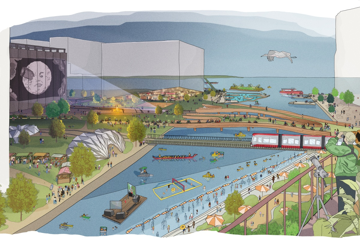 Visualisation of how parts of Waterfront Toronto will look