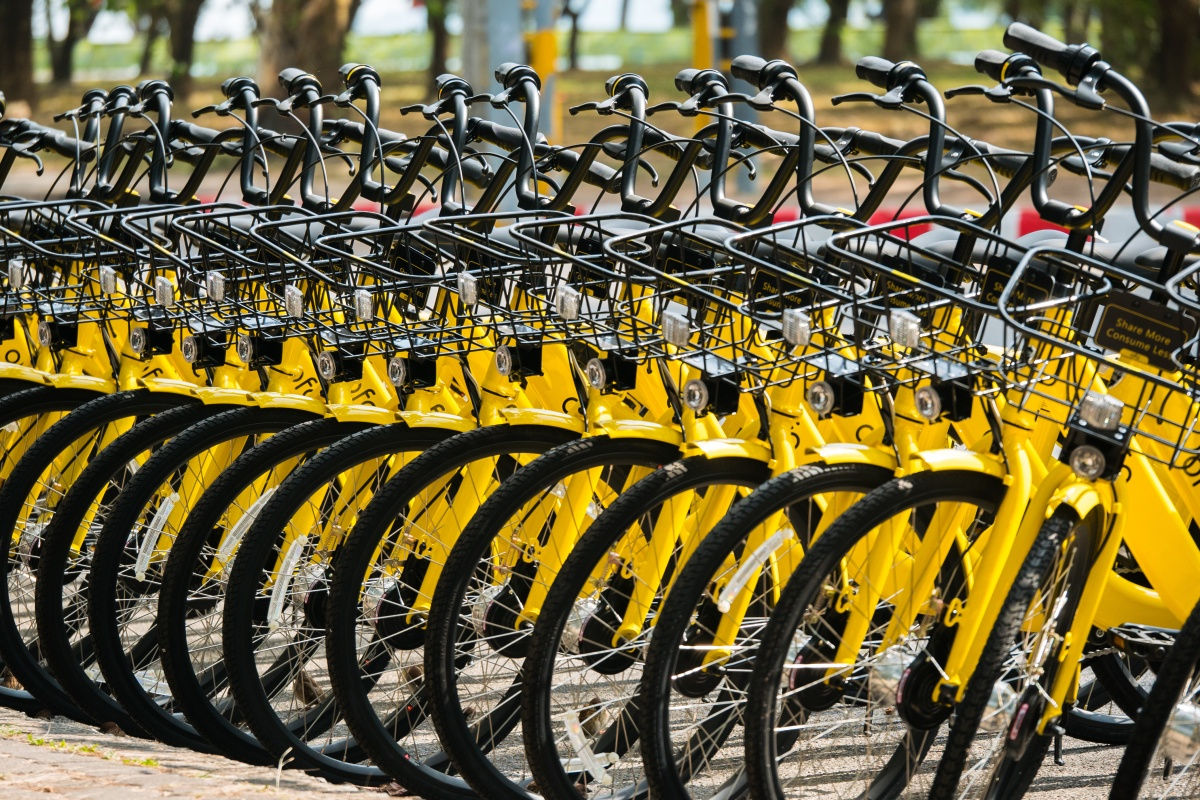 Report describes global bike-sharing as being at a nascent stage of development