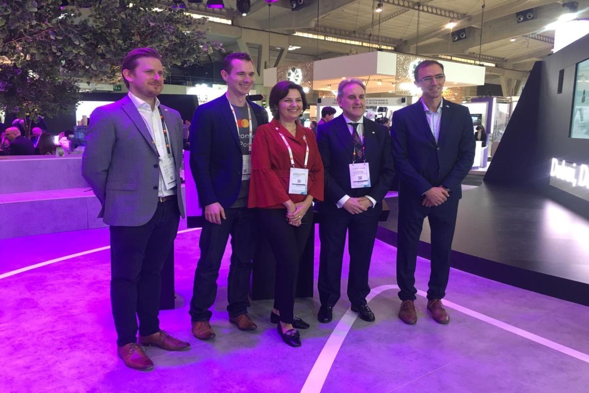 Representatives from Masabi, Mastercard and Bilbao at Smart City Expo World Congress in Barcelona