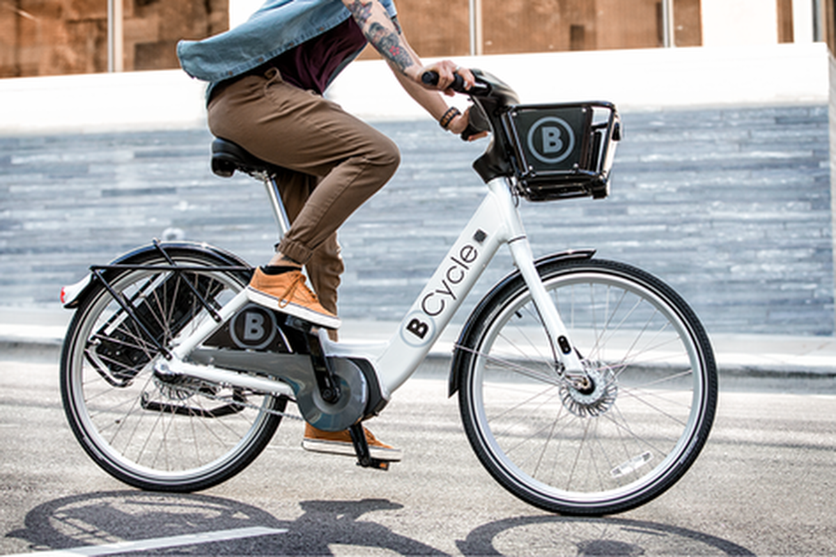 The BCycle electric bike which will be rolled out in cities starting this week