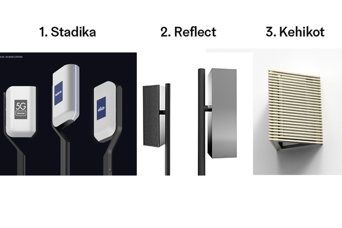 The three winning 5G base station models which topped a public vote