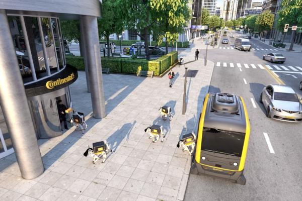 Continental demonstrates delivery robots at CES 2019