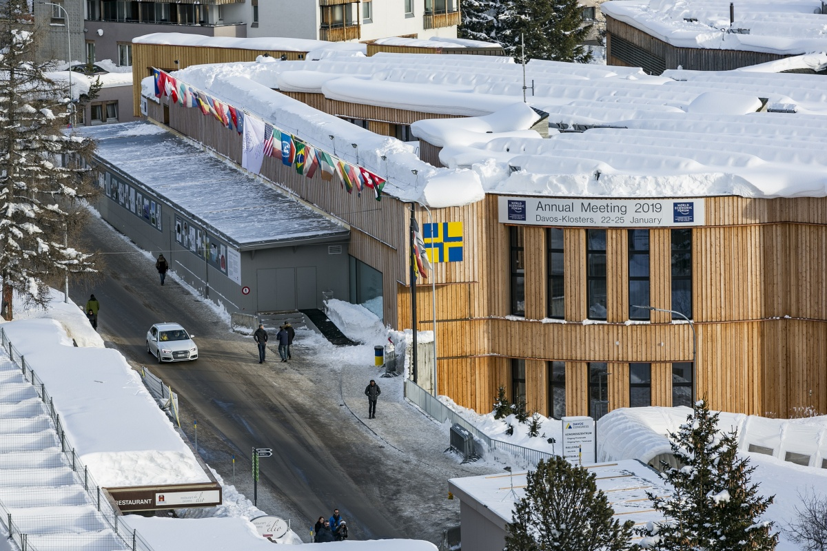 Smart cities are on the agenda at Davos. © World Economic Forum/Benedikt von Loebell