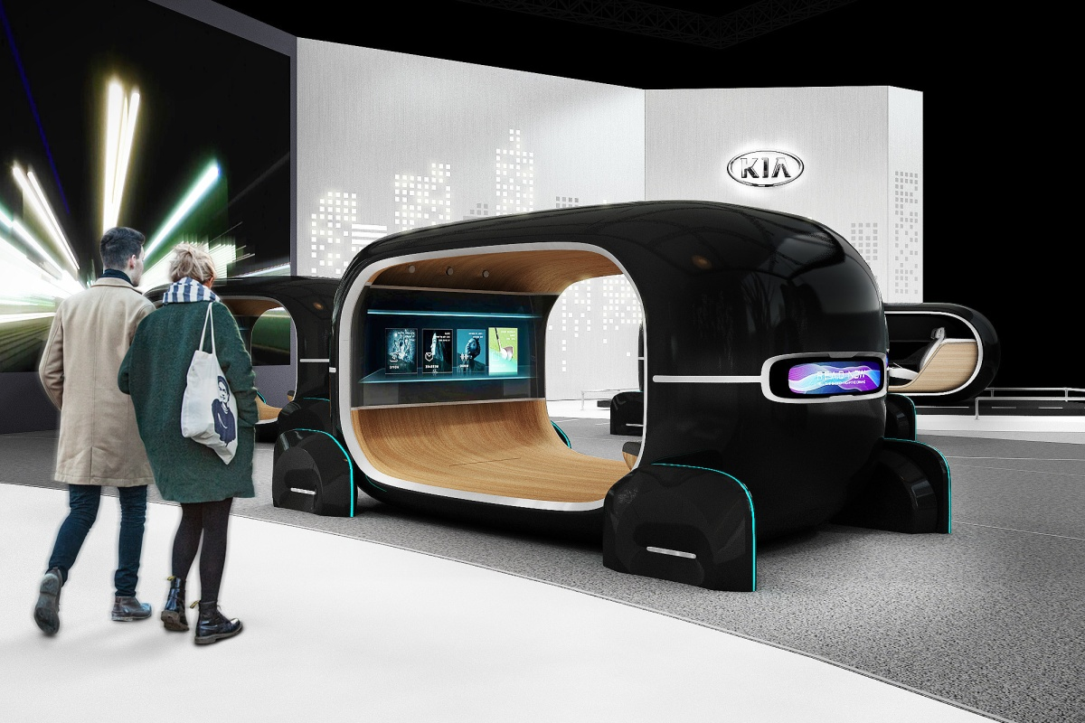 Kia will unveil the new technology with its Space of Emotive Driving exhibit