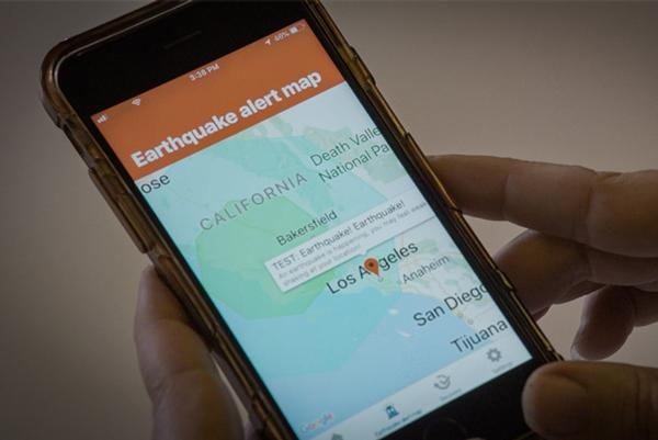 Earthquake alert app for LA residents