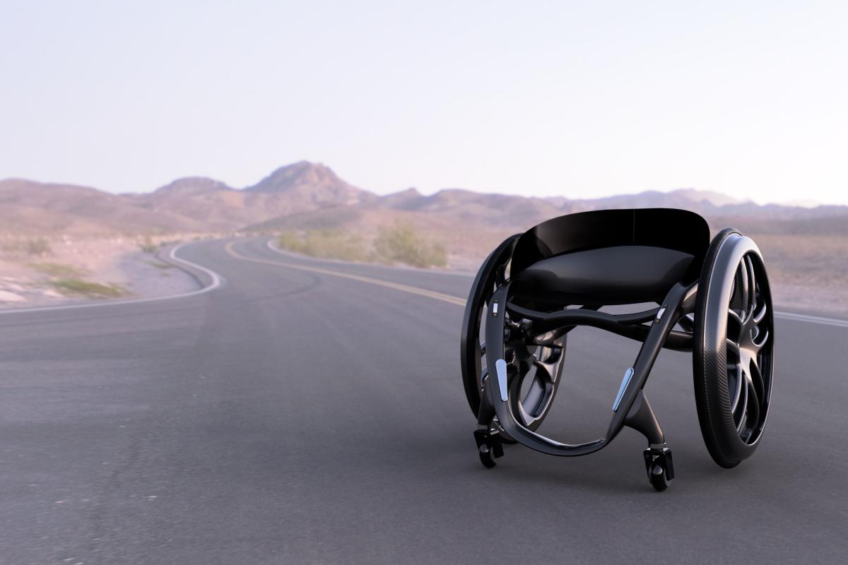 The Phoenix Ai intelligent wheelchair. Picture: James Ward