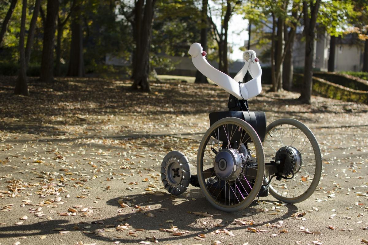 The Qolo mobile exoskeleton on wheels. Picture: James Ward