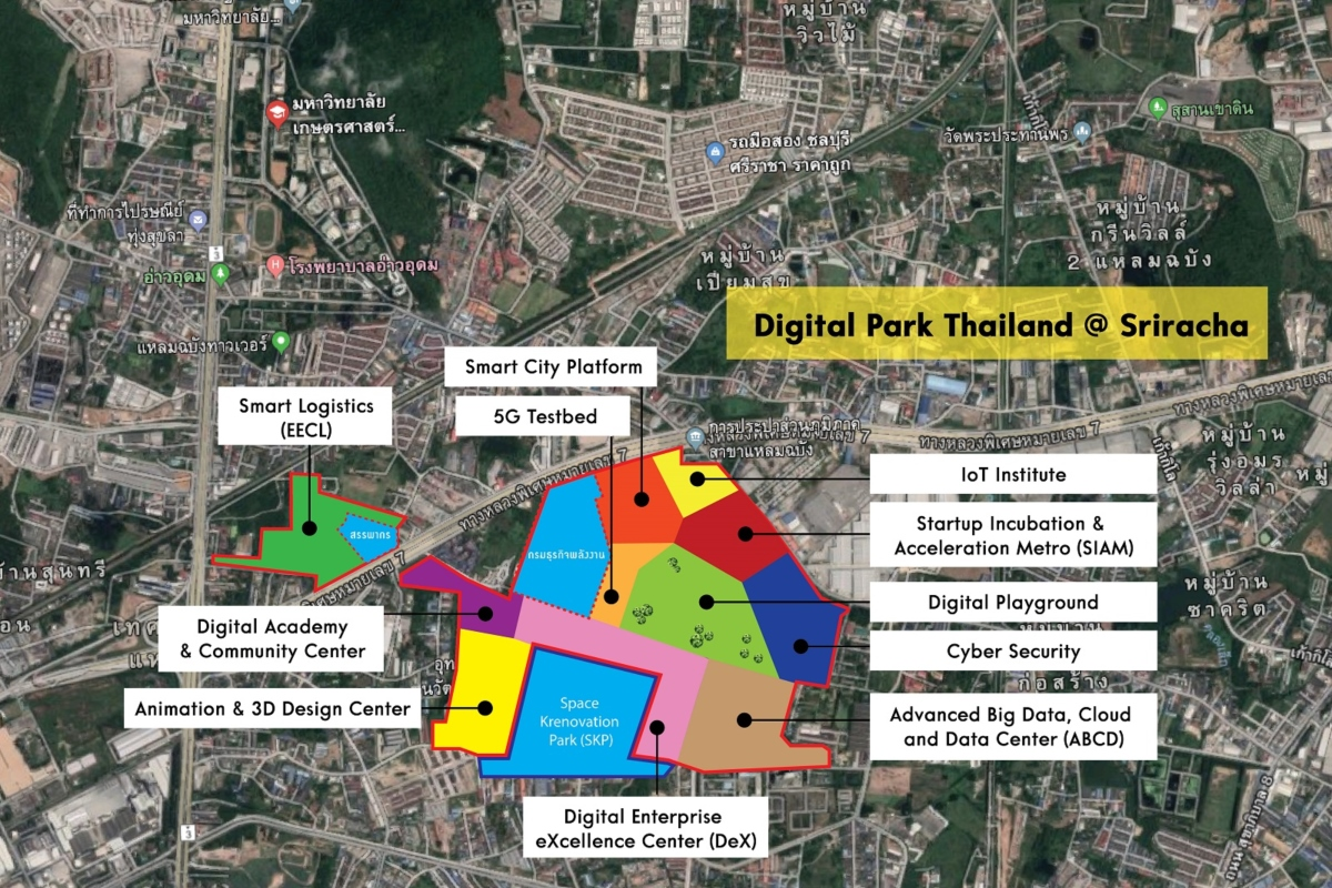 Conceptual plan of the area; final masterplan may differ. Picture: digitalparkthailaland.org